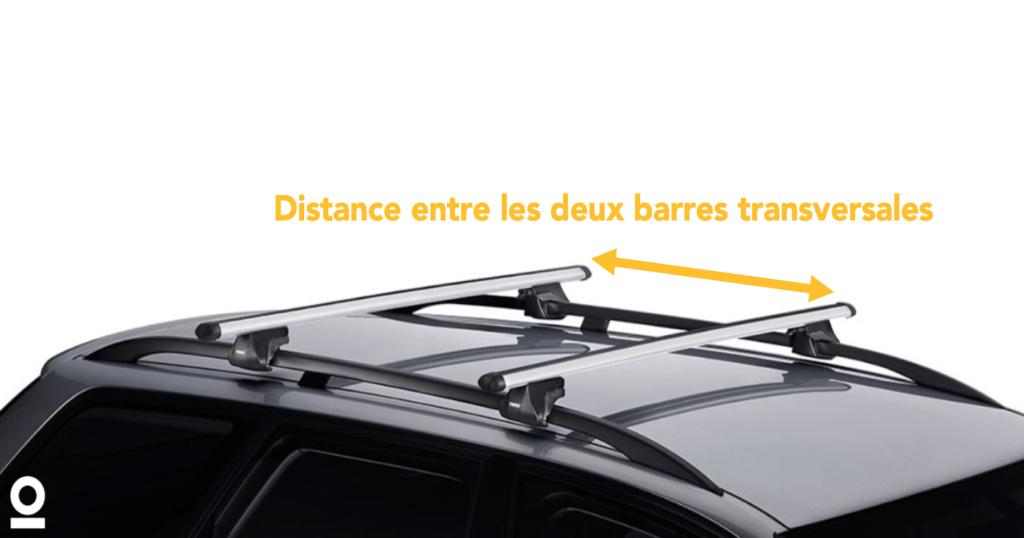 distance entre barres transversales