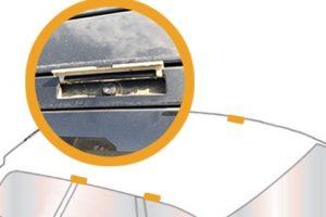 clapet pour visser barre de toit cache